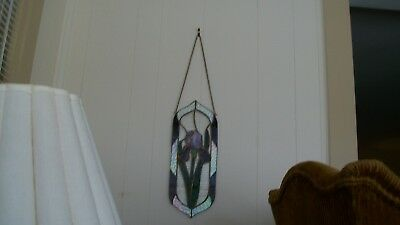 Vintage Leaded Stained Glass Window Hanging, Very Good Condition