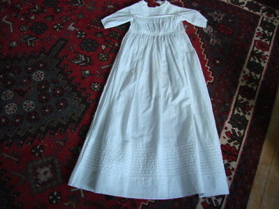 Vintage Antique Pintucked Baby Christening Dress ~ Sweet!