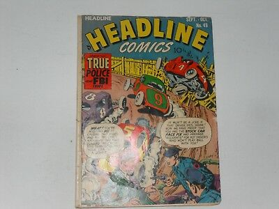 Headline Comics  #49 Sept / Oct  1951  Edited By Simon & Kirby  Read Description