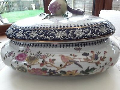 Antique Ornate Large Vegetable Tureen With Lid