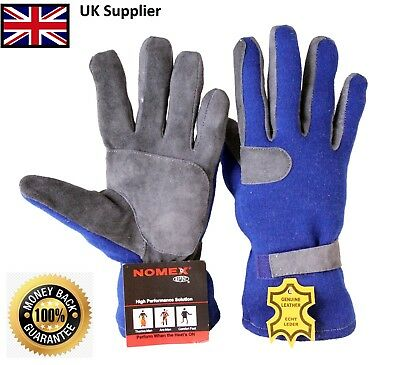 New Nomex & Leather Car Racing Gloves Fire Retardant,Driving,Flying,Driver,Pilot