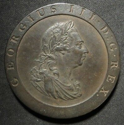 1797 Great Britain One Penny Cartwheel Cent 1¢- HIGH GRADE- AU