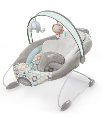 INGENUITY Candler SmartBounce Automatic Baby Boy Girl Infant Bouncer Seat Toy