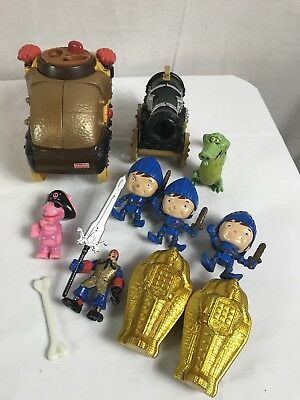 Lot Of 11 IMAGINEXT Brown Car Viking Figures Car And & Accessories Kids Toys
