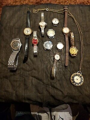 Job Lot of 12 Vintage Ladies mechanical watches  look rare lot