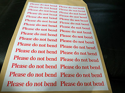 32 X   Please Do Not Bend    Labels Self Adhesive In Line Stickers 16 Each Side