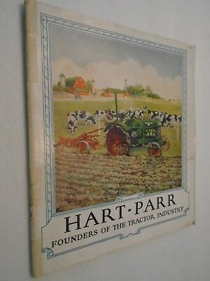 Vintage 1920's Hart-Parr Founders Of Tractor Industry Brochure Complete 55 Pgs.