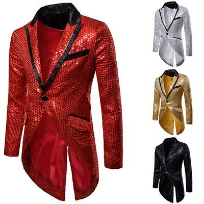 1d15c5a3 CA Men Stage Jacket Steampunk Long Tailcoat Coat Slim Suits Outerwear Jacket