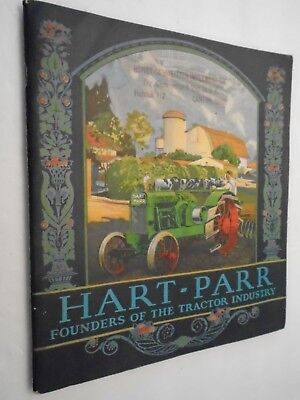 Vintage 1920's Hart-Parr Founders Of Tractor Industry Brochure Complete 64 Pgs.