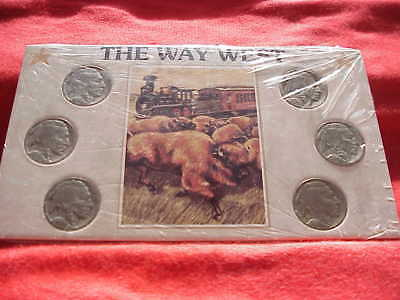 The Way West  Buffalo Nickel Set of Classic Indian Head Five Cents Coins