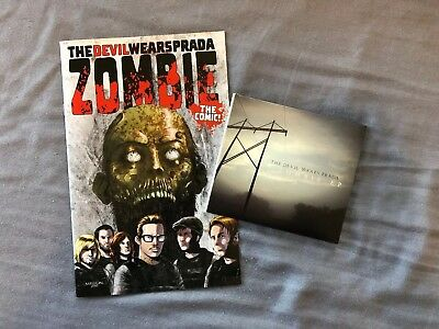 The Devil Wears Prada Zombie EP and COMIC BOOK Bundle Very Rare Great Condition