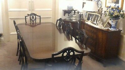 Bevan and Funnell Mahogany Dining Table 2300 X 1000mm eight chairs with POW Back