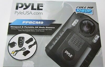 Pyle PPBCM9 Compact Portable HD 1080p 8MP Body Police Camera IR...