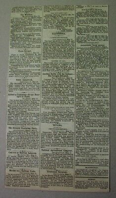 1873 clipping: INDIAN WARS Kickapoo Apache; Crook; anti-Chinese laws in San Fran