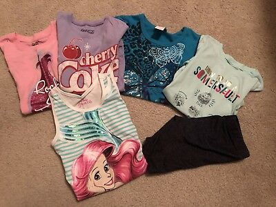 Girls Lot, Seven Items, Shirts And Shorts, Size 5