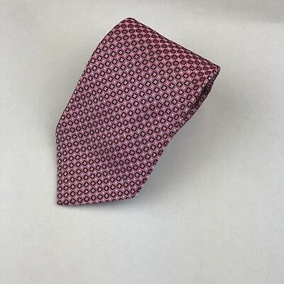 Hugo Boss Mens Pink Tie, Small Squares Necktie