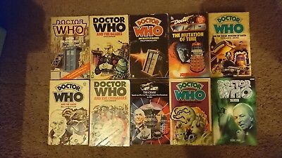 Doctor Who Lot Of 74 Books, classic Eight Doctors + 11th + Extras, blue spines!