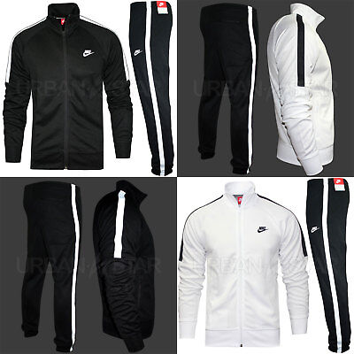 Nike TRIBUTE Full Polyester Tracksuit Zip Jacket Jogging Bottms Joggers