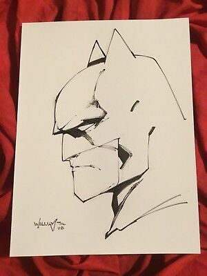 Batman The Dark Knight~Original Sketch Art By Scott Williams~Inker For Jim Lee~