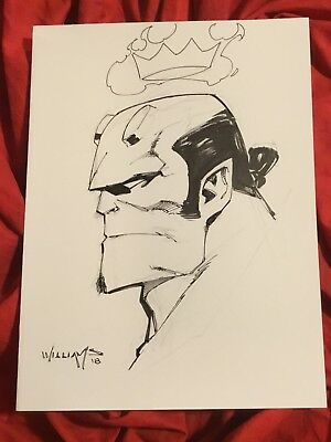 Mike Mignola Hellboy~Original Sketch Art By Scott Williams~Inker For Jim Lee~