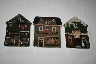 Lot of 3 Charles Wysocki Folktown Collector Plates Bradford Exchange #1, 2 and 4