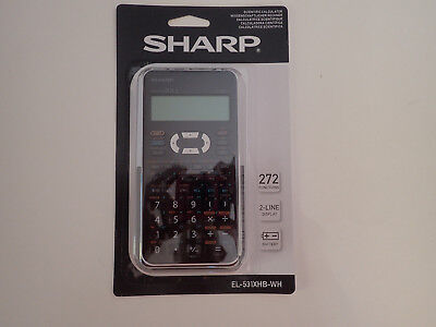 Brand New Sharp Scientific Calculator EL-531XHB-WH 272 functions