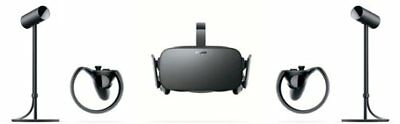 Oculus Rift VR Headset with Touch Controllers and Sensors With Case!