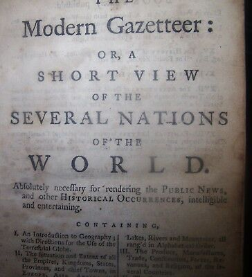 1758 Gazetteer of Nations By Salmon 30,000 African Slaves Purchased Orig. Leath.