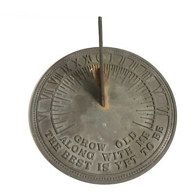 Metal Sun Dial - Grow Old Along With Me The Best Is Yet To Be
