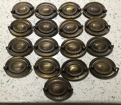 Vintage Lot of 17 Federal Style Door/Drawer Pulls