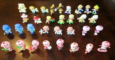 Strawberry Shortcake Lot Of 32 VTG Mini Figures Smell Great EXCELLENT CONDITION