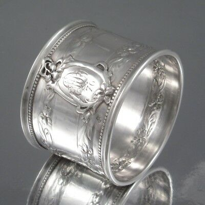 Antique French Sterling Silver Napkin Ring, Iris, Ravinet & Denfert, 1891-1912