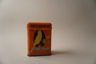 Vintage Hartz Mountain Song Food Tin Bird Food