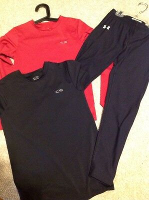 Lot Of Under Armour Compression Pants 2 Champion Compression Shirts Youth Large