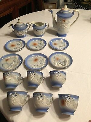 antique japanese porcelain tea set