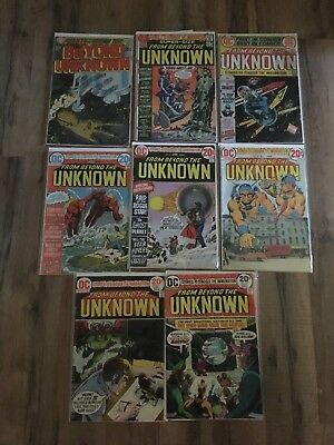 FROM BEYOND THE UKNOWN Lot of 8 DC Comics