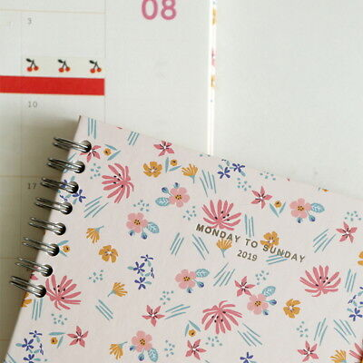 2019 Dailylike Diary Dated Monthly Planner School Agenda Notebook Monday Sunday