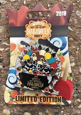 Disney Mickey's Not So Scary Halloween Party Chip & Dale 2018 Trading Pin NEW