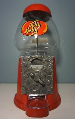 Jelly Belly Gumball Machine Coin Operated Glass & Metal Candy Dispenser