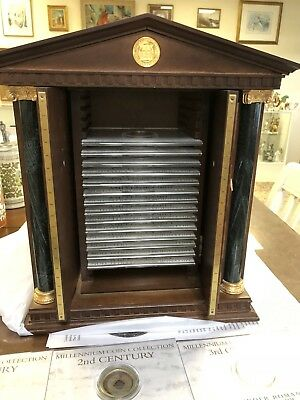 Franklin Mint Millennium Coin Collection 20 Centuries of Coins - Cool Cabinet!