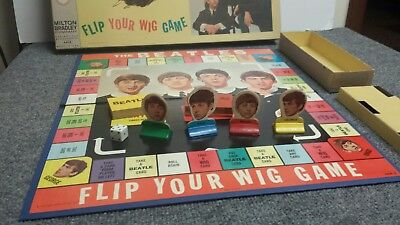 Vintage 1964 Beatles Flip Your Wig Board Game Milton Bradley (nice complete)