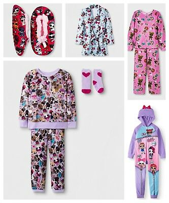 LOL Surprise Dolls Girls Pajama OR Bath Robe OR Slippers Many Styles to Choose