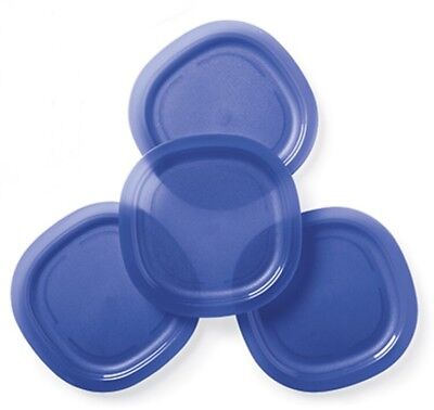 Tupperware Alfresco Large Microwave Safe Luncheon Plates (4) Tokyo Blue New