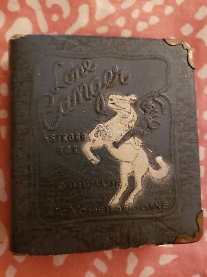 Vintage 1938 LONE RANGER Bank STRONG BOX Safe 'A CACHE FOR COINS' as is