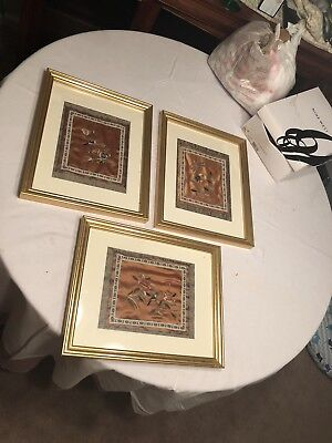 Antique Japanese Wall Decorations, set of 3