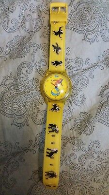 Vintage curious George watch one in a million inc. yellow
