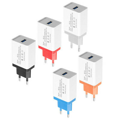 1x Mobile Phone Quick Charge USB 3.0 Fast Wall Home Travel AC Charger Adapter