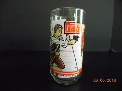 1983 Burger King Coca Cola Star Wars Return Of The Jedi Glass Han Solo