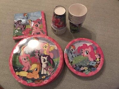 New My Little Pony Birthday Party Pack 16 guests (Plates,Cups,Napkins)EXTRAS See