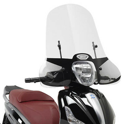 Givi Windscreen Piaggio Beverly 350 Sport Touring 13 with brackets 5606A+A5606A